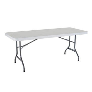 6' White Banquet Table