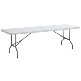 8' White Banquet Table