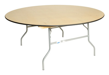 """72"""" Wooden Round Table"""