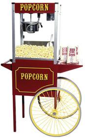 Theater 8oz Popcorn Machine and Cart