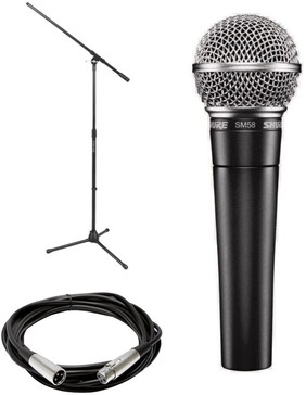 Shure Mic Mic Stand 25ft Cord