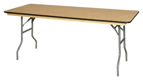 6' Wooden Banquet Table