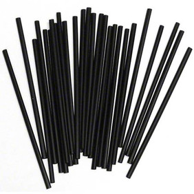 "Black Cocktail Straws 7.75"" 500ct box"