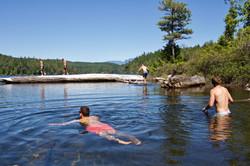 Team Swim At Big Quarry Lake