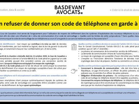 KPN #II. Code de téléphone et garde à vue