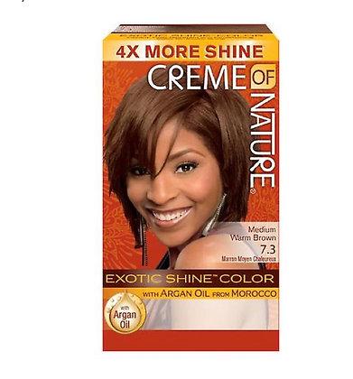Creme of Nature Hair Dye Exotic Shine - Colour Medium Warm Brown 7.3