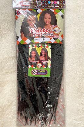 Mambo Twist Short Braid Crochet Hair Colour