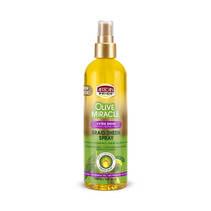 African Pride Olive Miracle Braid Sheen Extra Shine Spray