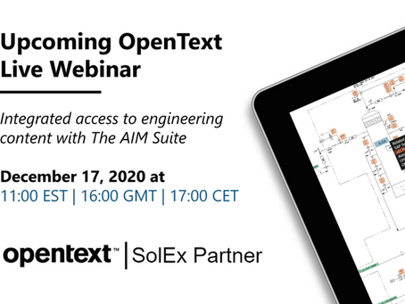 Join us for OpenText Live: Integrated access to engineering content