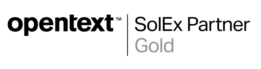 OpenText SolEx Partner Gold logo