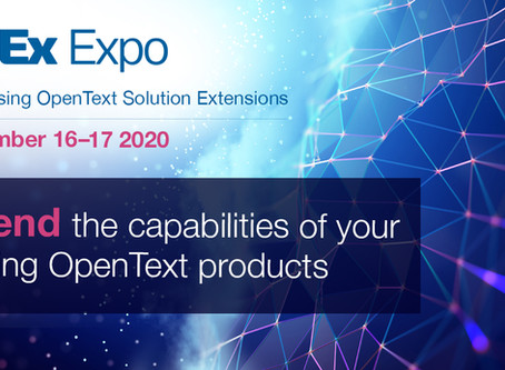 Join us at the OpenText SolEx Expo!