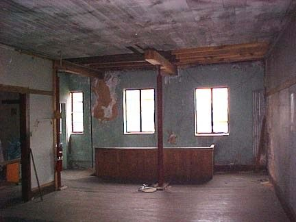 the back studio space prior to 2004
