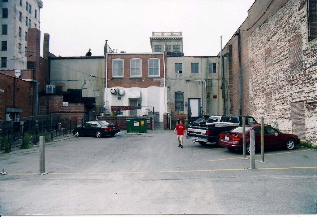 Back of building before 2004