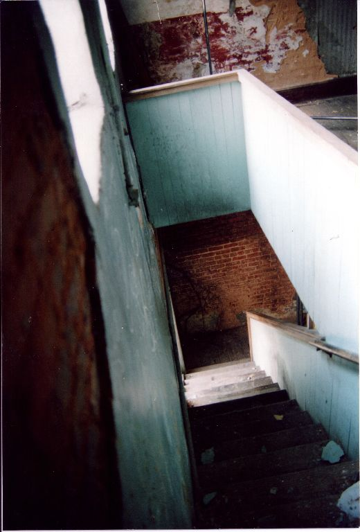 Old stairs in the back prior to 2004