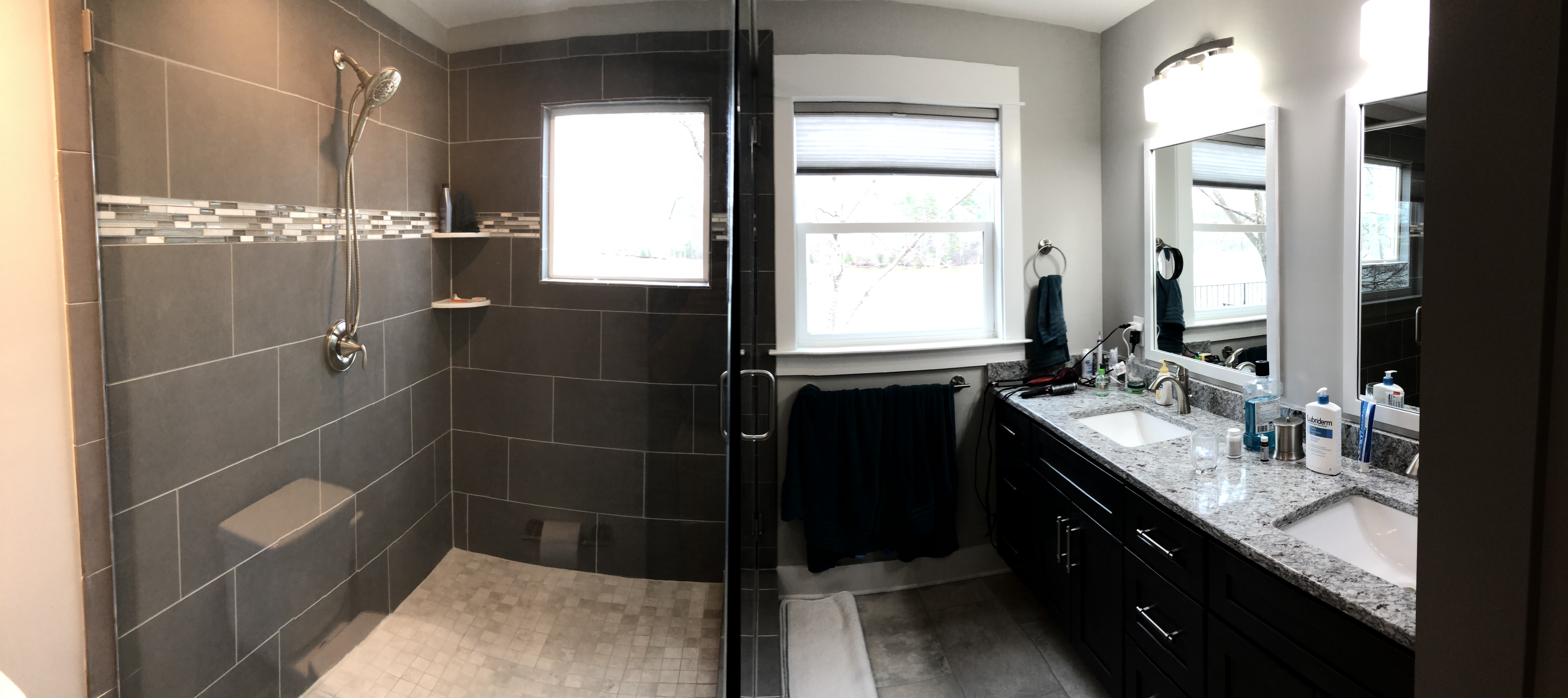 the new master bath