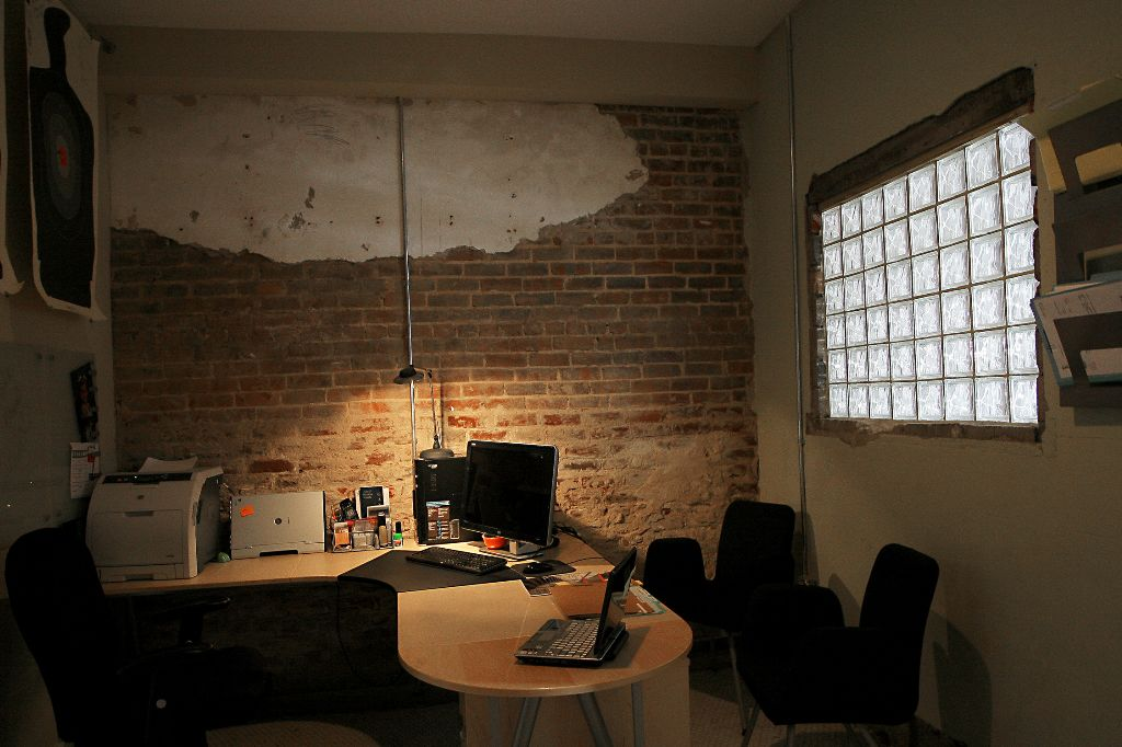one of the offices in basement 2008