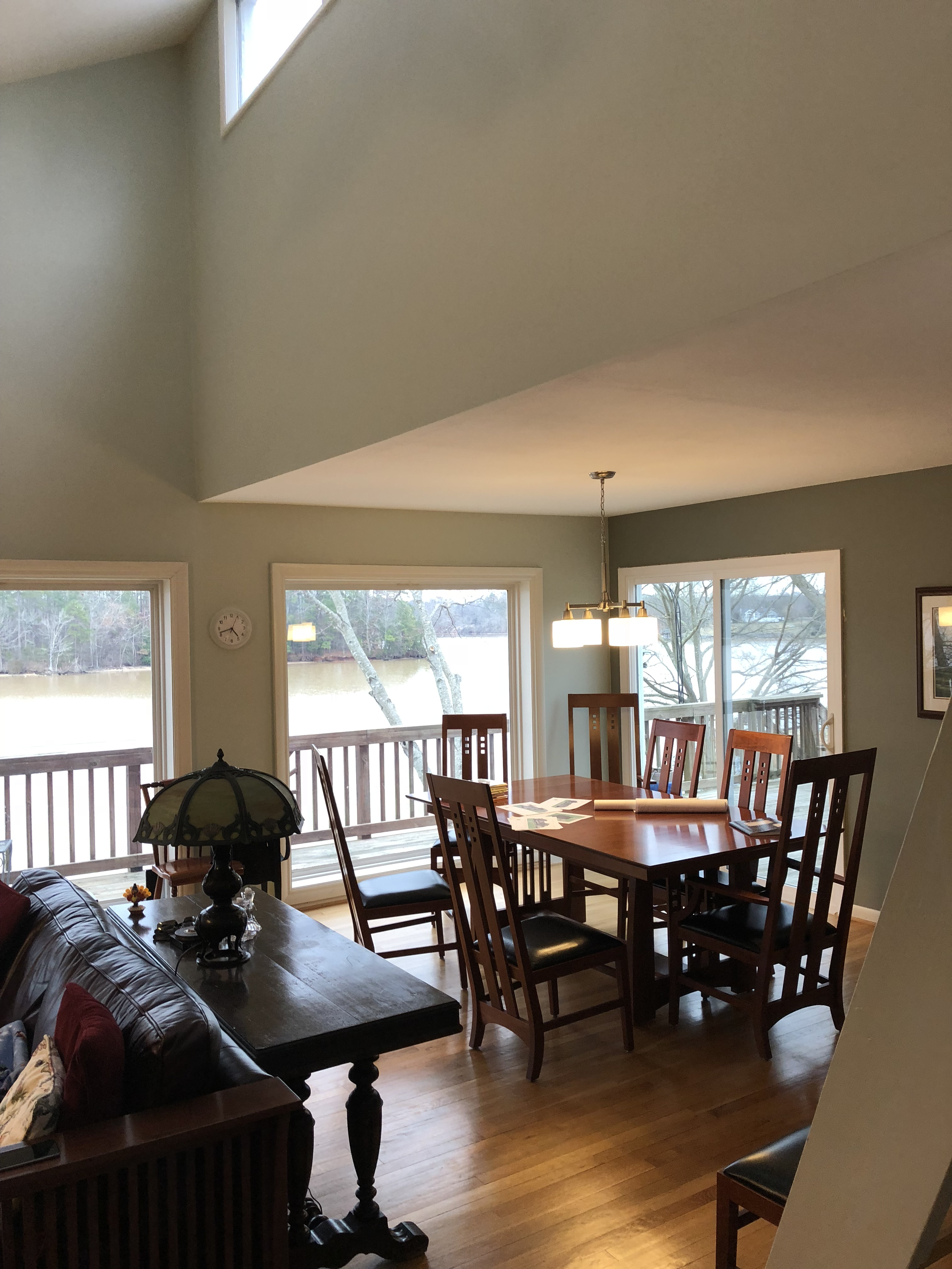 BEFORE existing dining area off the existing family room.....room