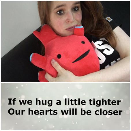 Pratend knuffel hart