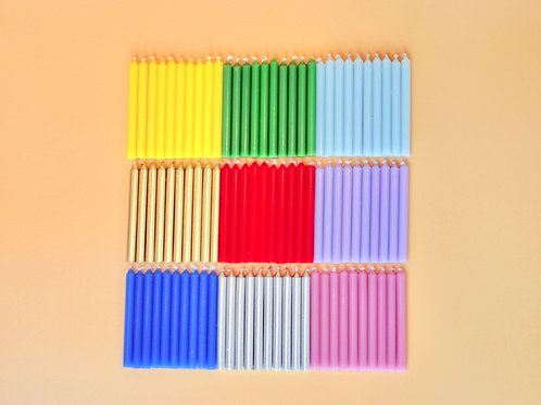 Birthday Candles, set of ten, available in 12 beautiful colors
