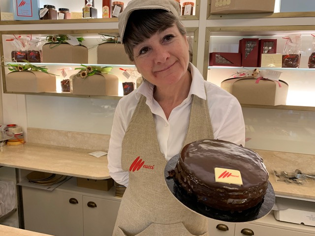 Classic Italian bakery with a perfect chocolate cake
