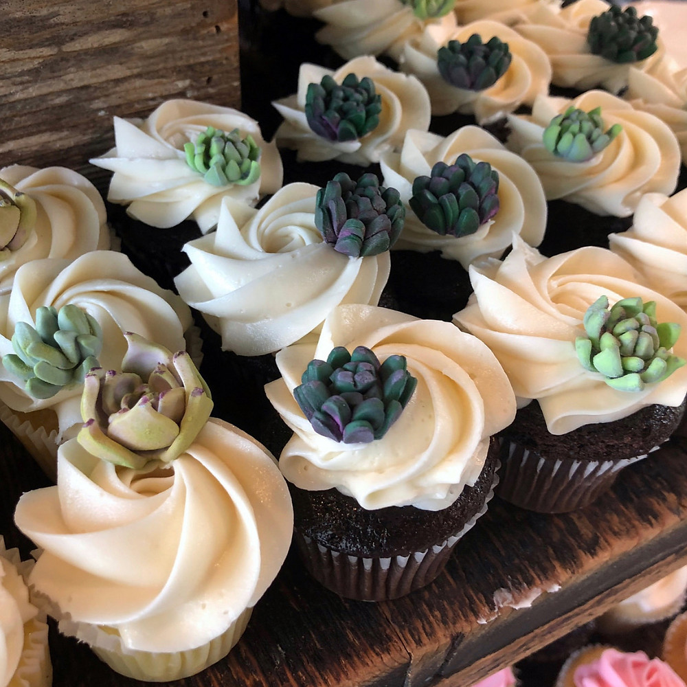 Cupcakes with amazing buttercream frosting from Sweet Treets Bakery