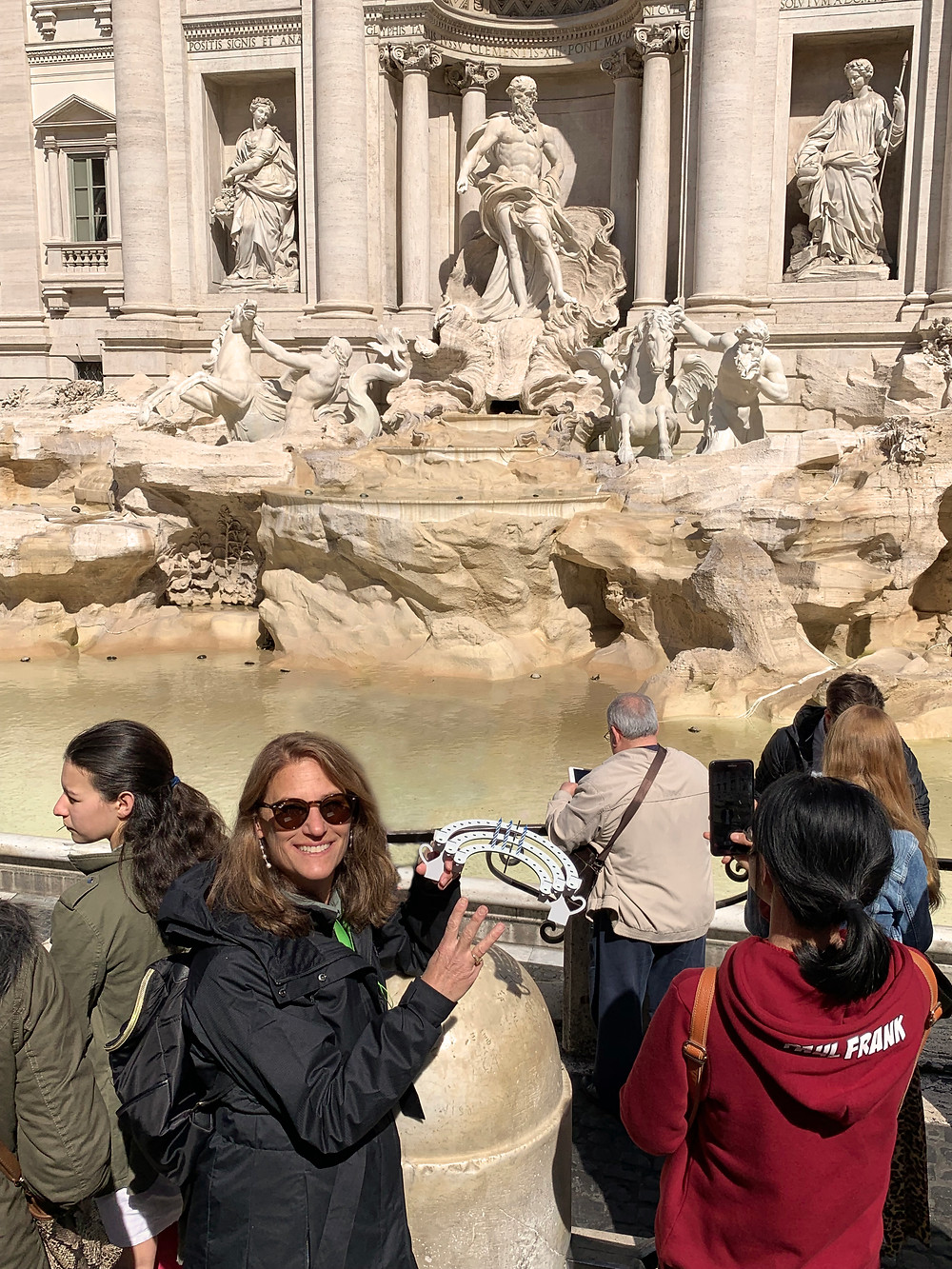 Carey Ide, Co-founder Celebration Stadium, at the Trevi Fountain in Rome.