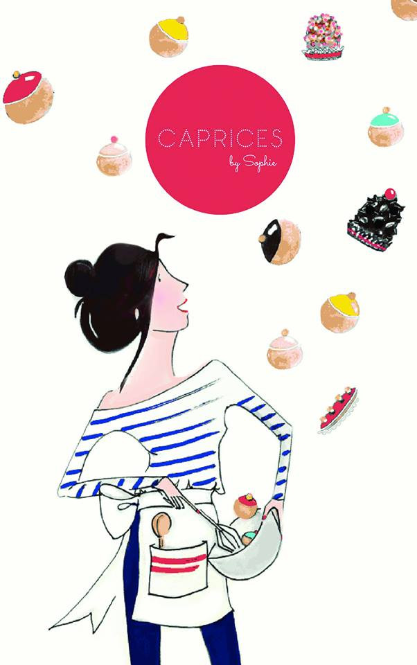 Illustration featuring Sophie Jaeger, founder Caprices by Sophie