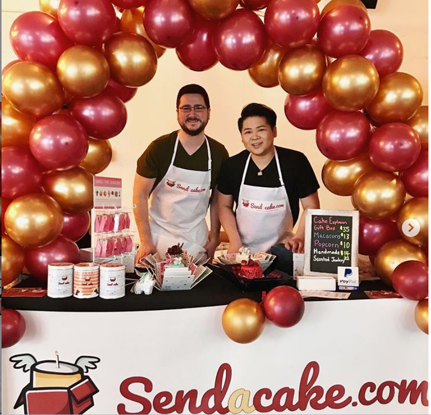 Send A Cake founder James Siew, Celebration Stadium's March 2019 Cakery of the Month