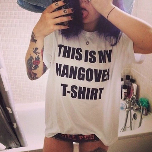 This Is My Hangover T-Shirt - TEE - UNISEX - All Sizes - Digital Printing