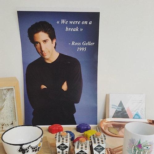 Ross Geller - Friends - We were on a break - Poster - 1995