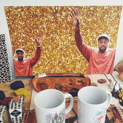 Kanye West Gold Poster