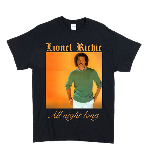 Lionel Richie, All Night Long Tee - Unisex - Digital Printing