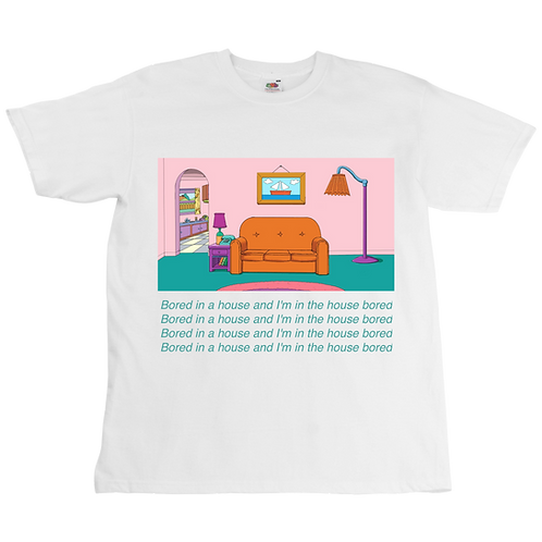 The Simpsons x Bored in the house Tee - Unisex - Digital Printing