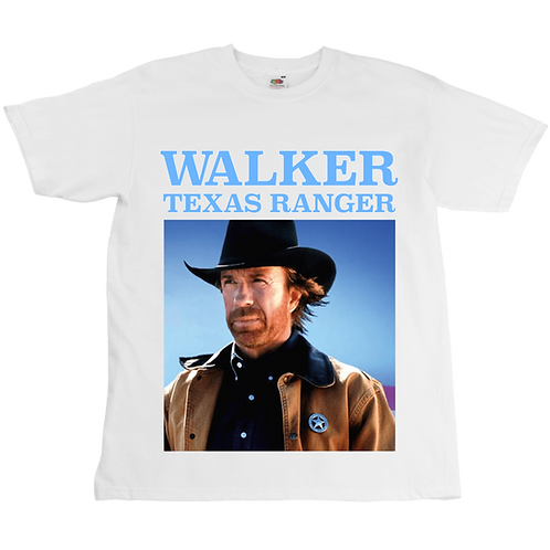 Walker Texas Ranger - Chuck Norris Tee - Unisex - Digital Printing