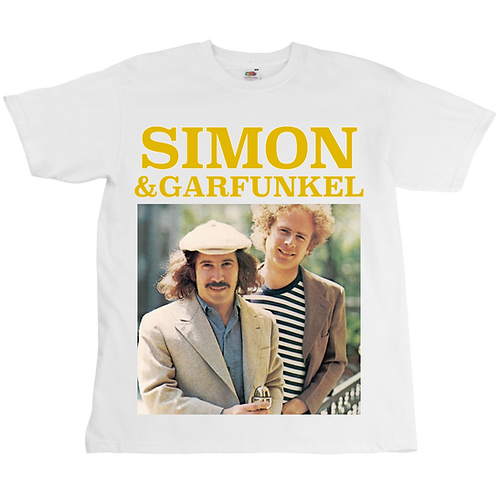 Simon & Garfunkel Tee - Unisex - Digital Printing - White Grey or Black
