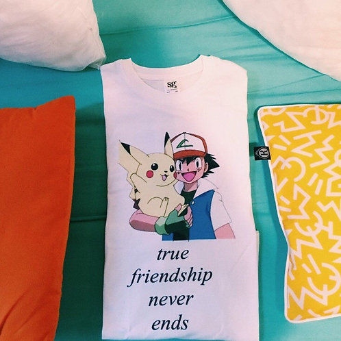 True Friendship Never Ends - Pokemon - TEE - UNISEX - All Sizes - Digital Print