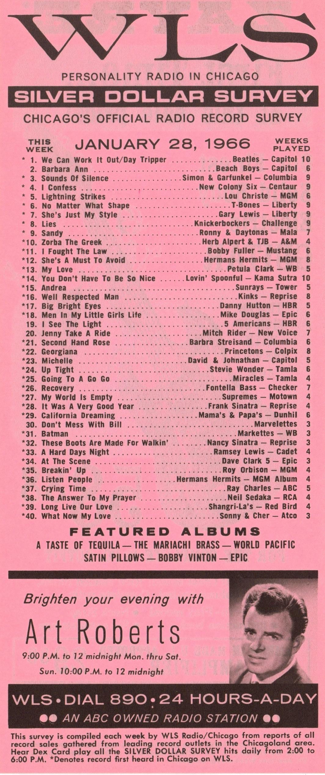 JANUARY 28, 1966 - ART ROBERTS
