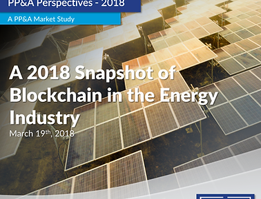 A 2018 Snapshot of Blockchain in Energy