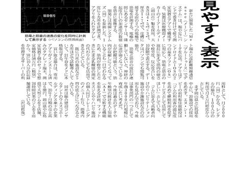 日本経済新聞に当社製品が掲載されました!