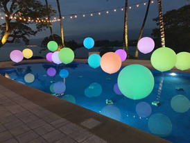 With LIghts on in Pool