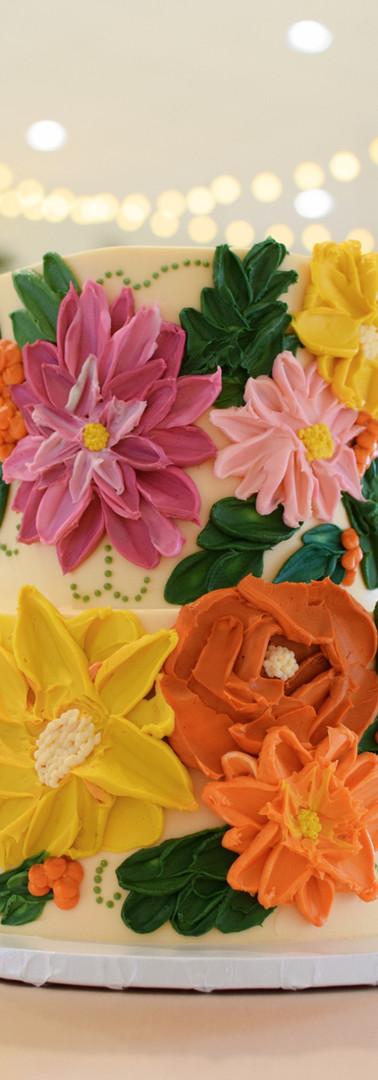 Palette Knife Buttercream Floral Cake