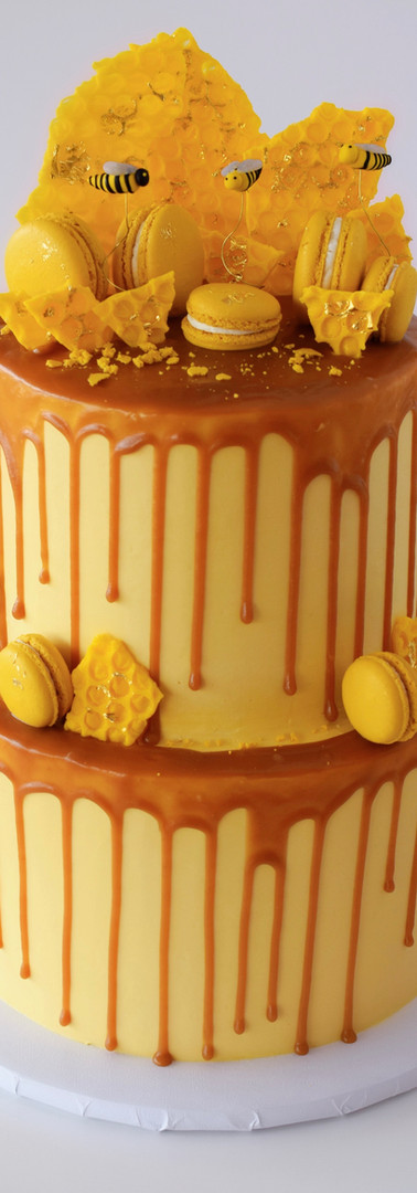 Two-Tiered Honey Themed Cake