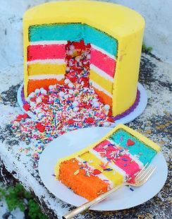 Rainbow Cake Layers