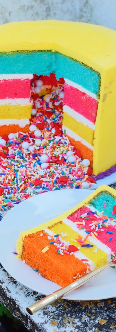 Rainbow Sprinkle Explosion Cake
