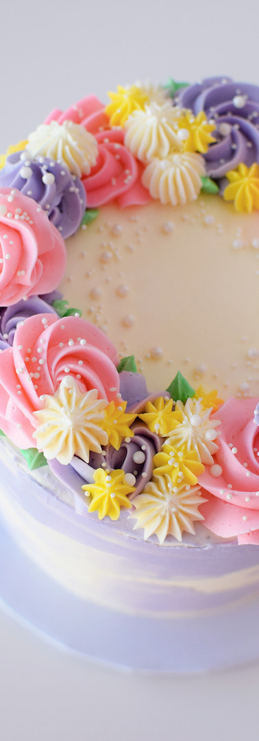 Floral Crown Buttercream Cake
