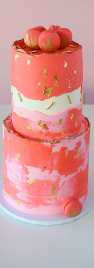 Two-Tiered Painted Buttercream Party Cake