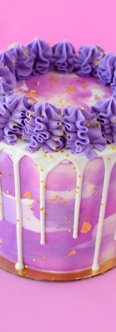 Painted Buttercream Drip Cake