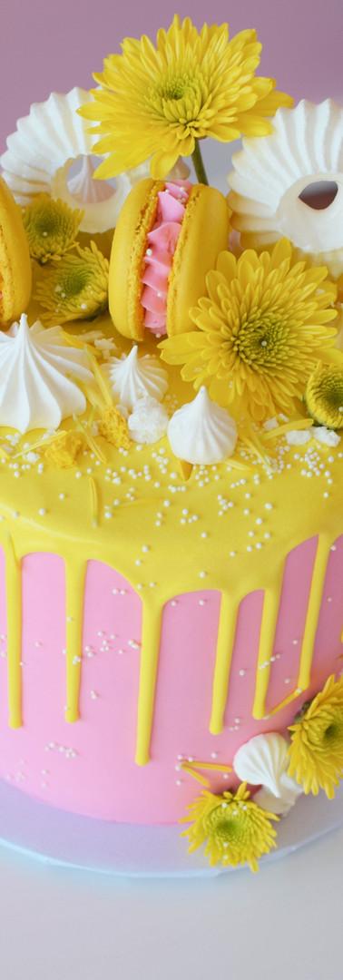 Spring Floral Drip Cake