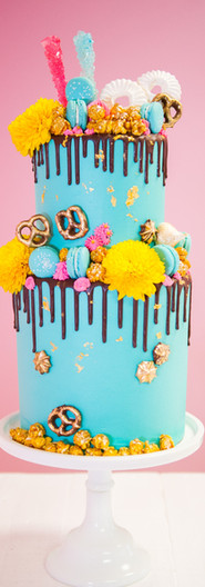 Two-Tiered Party Drip Cake