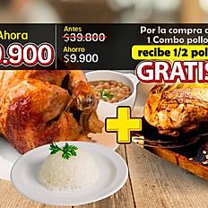 Hoy GRATIS 1/2 Pollo por la compra de 1 Combo Pollo x $29.900